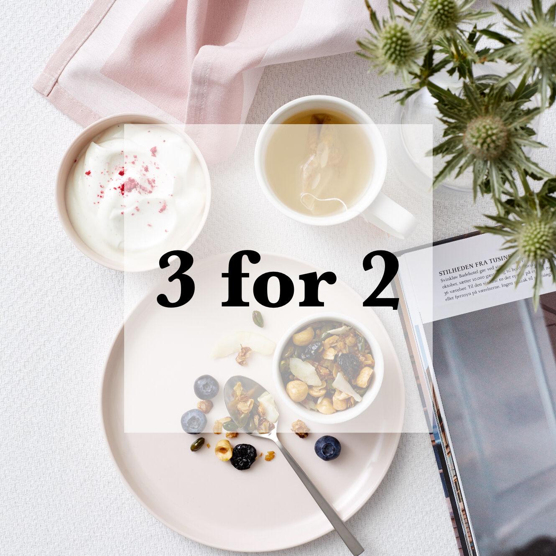 3 FOR 2 PÅ ALT NUDGE